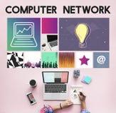 Strona internetowa projekta UI oprogramowania WWW Medialny pojęcie Zdjęcia Stock