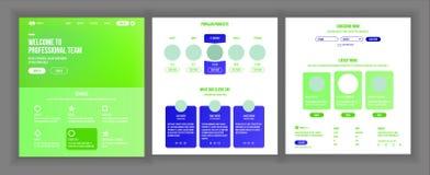 Strona Internetowa projekta wektor Strona internetowa biznesu pojęcie Sieć rozwój i projekt Desantowy szablon Globalny monitorowa Obrazy Royalty Free