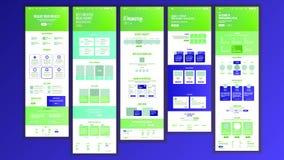 Strona Internetowa projekta wektor Strona internetowa biznesu styl Początkowy miejsca plan Desantowy szablon Innowaci cyberprzest ilustracji