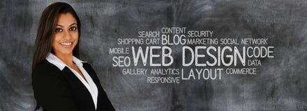 Strona internetowa projektant Fotografia Stock