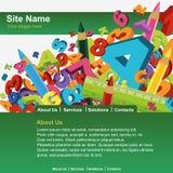 Strona internetowa szablon Obraz Royalty Free