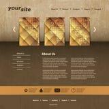 Strona internetowa szablon Fotografia Stock