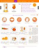 Strona internetowa szablon 58 Obraz Stock