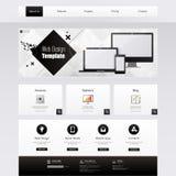 Strona internetowa szablon - eps10 Wektorowy projekt Zdjęcia Stock