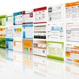 Strona internetowa szablonu ściany tło royalty ilustracja