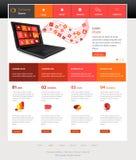 Strona internetowa szablonu projekt Fotografia Stock