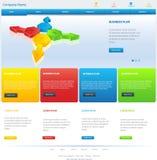 Strona internetowa szablonu projekt Zdjęcie Stock