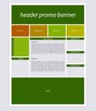 Strona internetowa szablonu układ z tekstem Obrazy Stock