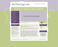 Strona internetowa szablonu układ z tekstem Obraz Stock