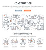 Strona internetowa sztandar i lądowanie strona budowa ilustracji