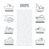 Strona internetowa sztandar i lądowanie strona statki Obraz Royalty Free