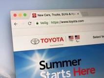 Strona internetowa Toyota com - Toyota silniki zdjęcia stock