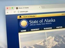 Strona internetowa U S alaska stan Zdjęcie Stock