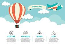 Strona internetowa układ z podróży ikonami Zdjęcia Stock