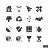 Strona internetowa & wiszących ozdób podaniowe ikony ustawiamy - Wektorową ilustrację Obraz Stock