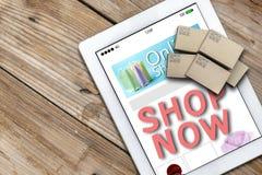 Strona internetowa zakupy online pojęcie Handel elektroniczny i doręczeniowa usługa zdjęcie stock