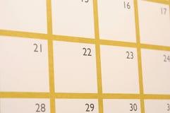 Strona kalendarz Fotografia Stock
