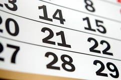 Strona kalendarz Obraz Royalty Free