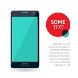 Strona lub sztandaru projekt z telefonem komórkowym Obrazy Royalty Free