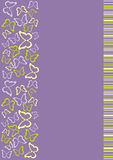 strona motyli tytuł Obrazy Stock