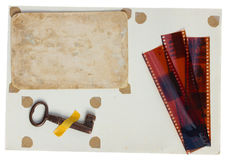 Strona od albumu fotograficznego Zdjęcia Stock