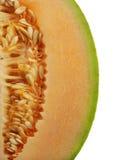 Strona Pomarańczowy miodunka melon Obraz Stock