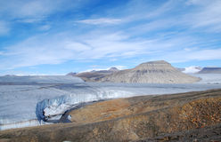 Strona siły powietrzne lodowiec Zdjęcia Royalty Free