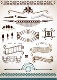 Strona, tekst dekoracje i dividers i Obraz Royalty Free
