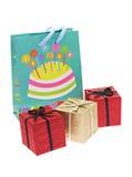strona toreb pudełek prezent Zdjęcie Royalty Free