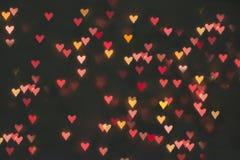 Strona w postaci serc Mali symbole miłości serca bokeh obraz royalty free