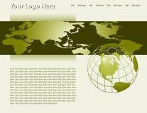 strona wektora szablonu sieci Obrazy Royalty Free