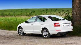 Strona widok samochód na naturze Zdjęcia Stock