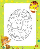 Strona z ćwiczeniami dla dzieciaków - Easter ilustracji