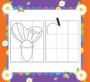 Strona z ćwiczeniami dla dzieciaków - ilustracja dla dzieci Zdjęcie Stock
