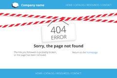 Strona znajdujący błąd 404 Zdjęcia Stock