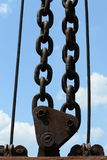 Strong. A strong chain in the air Royalty Free Stock Photography