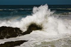 Strong. Storm on the coast of galicia Royalty Free Stock Image
