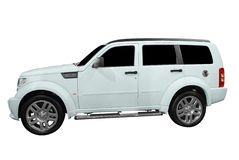 Strong 4x4 suv. Isolated on white stock photo
