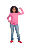 Strong African girl Royalty Free Stock Image