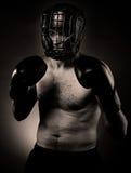 Strong aggressive boxer Royalty Free Stock Photo