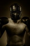 Strong aggressive boxer Stock Photography