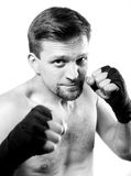 Strong aggressive boxer Royalty Free Stock Images