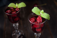 Strong alcohol cherry liqueur Royalty Free Stock Images