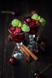 Strong alcohol cherry liqueur Stock Image