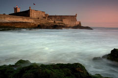 Strong. Ancient fort bar, made to protect the coast from Lisbon Royalty Free Stock Photo