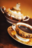 Strong arabic coffee served in a traditional way Stock Image