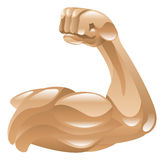 Strong arm icon. Strong muscle arm icon clipart illustration Stock Photo