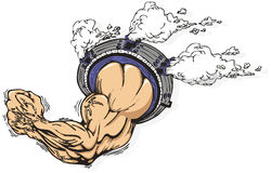 Strong arm motor. Stock Photo