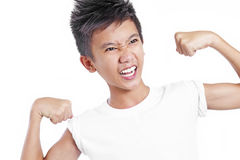 Strong Asian Teenager Stock Images