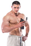 Strong athletic man Royalty Free Stock Images